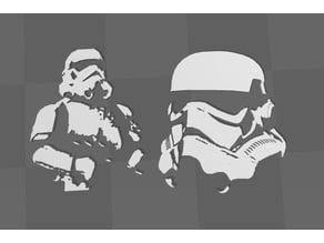 Storm Trooper 3D Wall Art