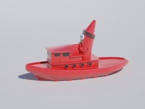 crayola crayon boat