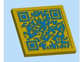 QR code-3d model