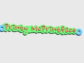 Printy McPrintface tag, meant to be attached to a 2020 extrusion on the FT-5