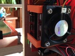 Pentium II fan mount for RAMPS 1.4 board
