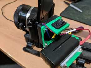 Cooling fan mount for Tripod and Sony NP Battery