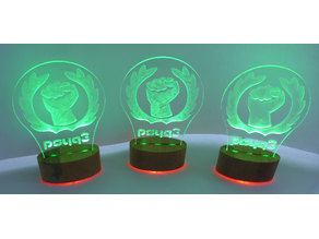 psYq3 USB powered LED display stand (design element)