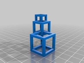 Cubes necklace (assembled)