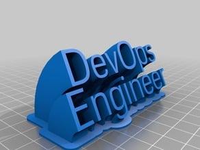 DevOpsEngineer 2-line name plate