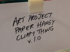 Glass Shelf Paper Holder Thingy