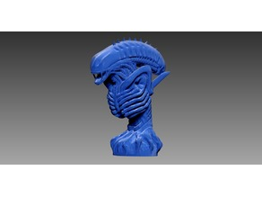 Xenomorph Bust (Lower Poly-Count)