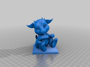 Baby Dragon - Holder (repaired base)