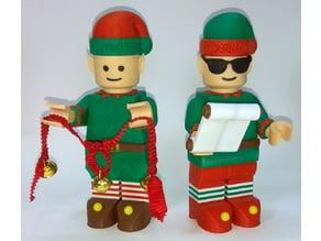 Jumbo Lego Christmas - Elves - Bernard and Twinkle