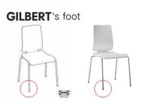 IKEA Gilbert Chair's foot (glider)