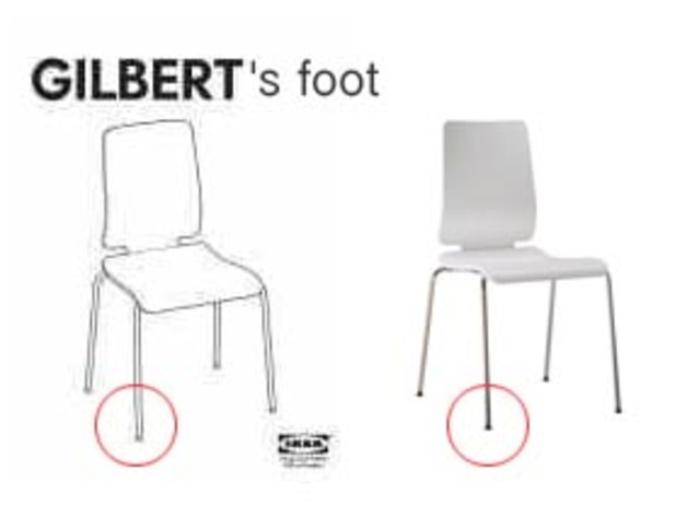 Ikea Gilbert Chairs Foot Glider By Isepp Thingiverse