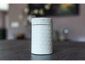 Cylinder textured box
