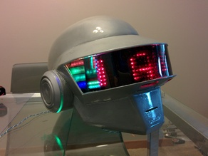 Daft Punk Thomas 3D Printable Wearable Helmet