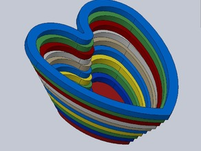 Heart bowl - A bowl made from layered hearts