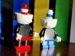 Cuphead & Mugman mini figure heads