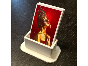 Portrait business card holder