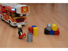 Playmobil barrel