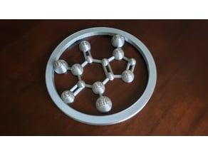 Decorative Caffeine Molecule