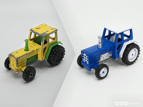 Detailed Tractor Wheels - Diecast Toy Restoration