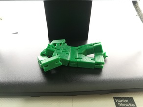 Yossele Tiny. String jointed, block robot puzzle