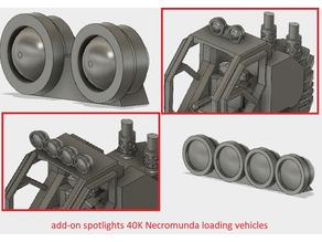 add-on spotlights 40K Necromunda loading vehicles