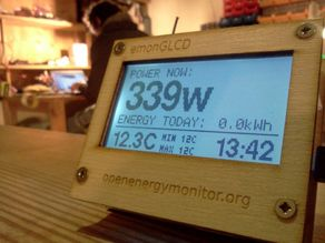 emonGLCD - Wireless LCD display - laser cut ply fascia