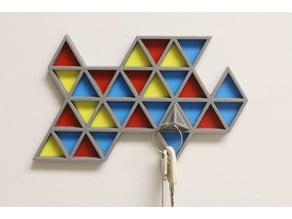 Multi-Color Key Rack (AKA Tetra-key-dron, Mosaic key holder, Tri-dangles)