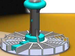 Mars Base Solar Chimney