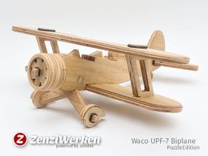 Waco UPF-7 Biplane PuzzleEdition cnc/laser