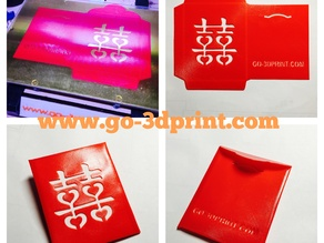 Chinese Red Envelope for Wedding (3D Printed)