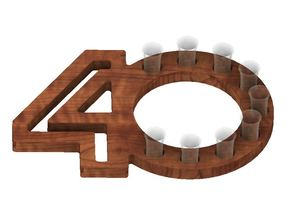 40th Birthday Shot Holder