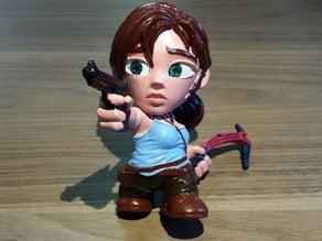 Hollow Lara Croft Toon Figure - Optimized for SLA Printers