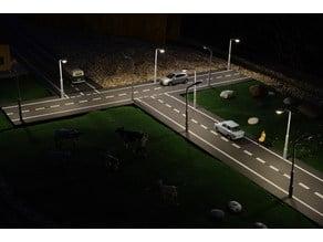 Modern G-Scale Street Lamp