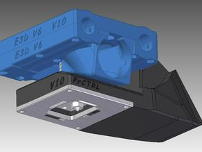 X cariage for E3D V6 with integrated cooling Fan duct