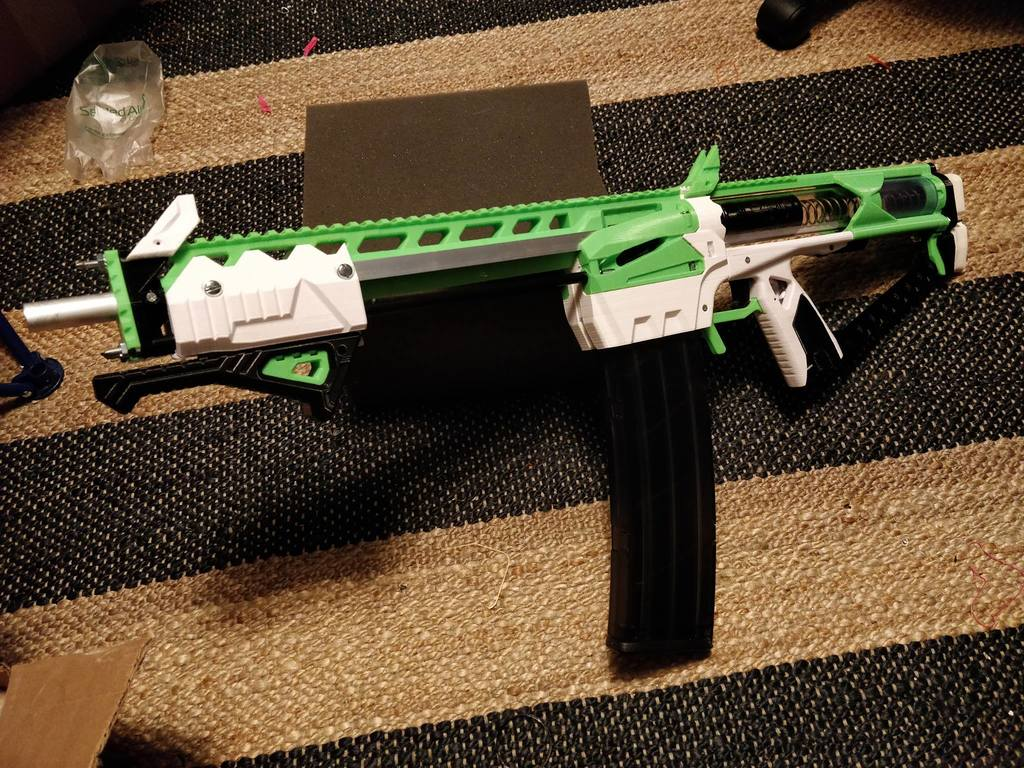 Caliburn Mag-Fed Pump-Action Nerf Blaster by captainslug