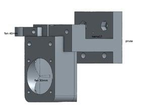 Prusa mount MK9 / MK8 extruder