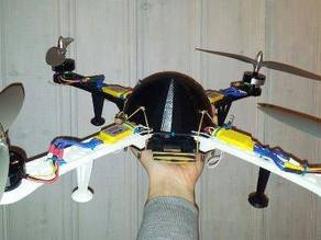 Multicopter electronics protection dome