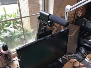 Computer  Monitor Cold shoe and 1/4 -20 mount for Cameras and microphones
