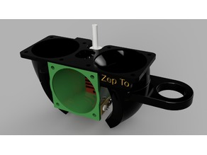 Creality CR-10S dual 40mm part cooler and 40mm Hot end fan for Stock Hot-End - ABL Version