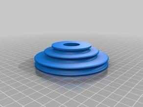 Spinning wheel bobbin drive plate (a whorl?)