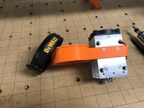 Endurance laser mount for a DeWalt router