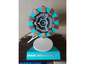 Stark Industries Mk1 Arc Reactor - Night light with base