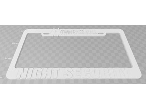 Twin Pines Mall - Night Security License Plate Frame, Back To The Future