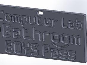 Boys & Girls Computer Lab Bathroom Pass