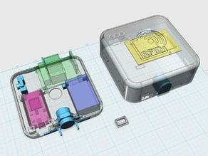 RFID case (nodemcu, rc522, relais, LEDs)