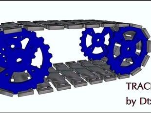 Track for robot (cingoli e ruota dentata)