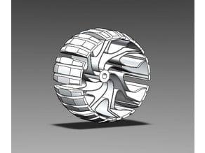 Shock-absorbing wheels R1