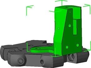 Kossel Mini Custom Z Probe Retractable - 3mm probe