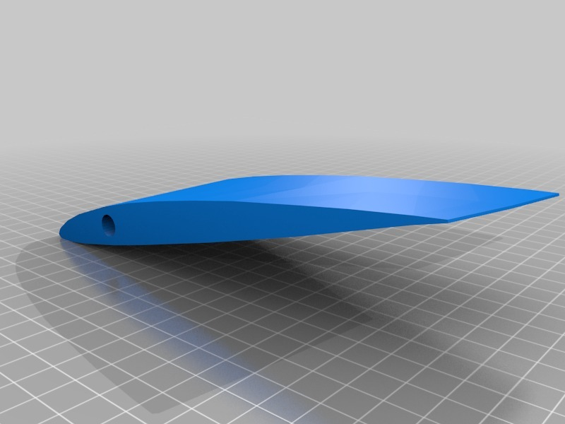 Maple Seed Helicopter Blade! 3D printable by nealsoni00
