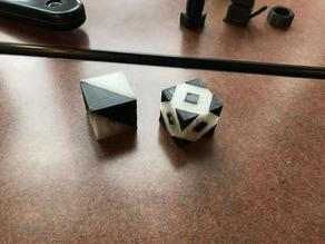 Dual Extrusion Calibration Cubes